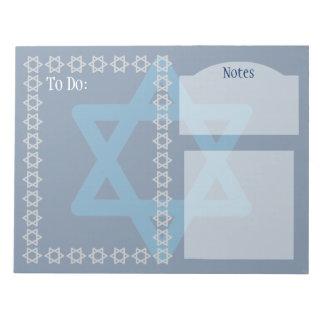 Star of David Customizable Notepads