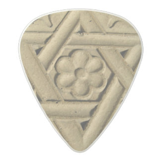 Star Of David Engraved In Stone - Judaism Acetal Guitar Pick