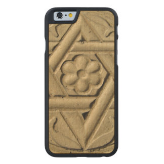 Star Of David Engraved In Stone - Judaism Carved Maple iPhone 6 Case