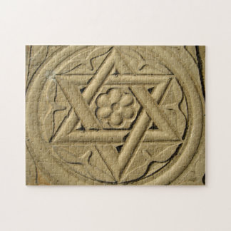 Star Of David Engraved In Stone - Judaism Jigsaw Puzzle