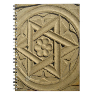 Star Of David Engraved In Stone - Judaism Notebooks