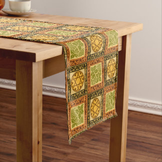 Star of David, Florets and Grapes Short Table Runner