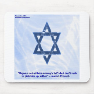 Star Of David & Funny Jewish Proverb Gifts & Cards Mouse Mat