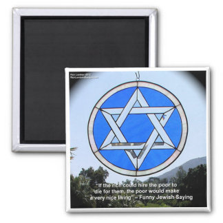 Star Of David & Funny Jewish Quote Gifts & Cards Square Magnet