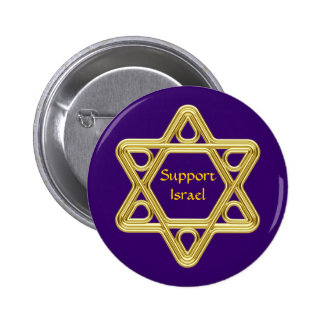 Star of David Gold 6 Cm Round Badge