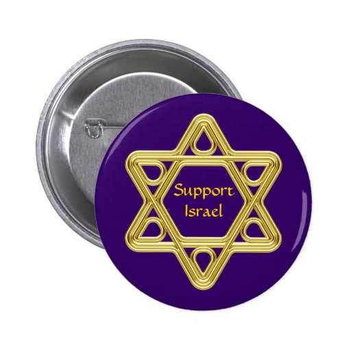 Star of David Gold Buttons
