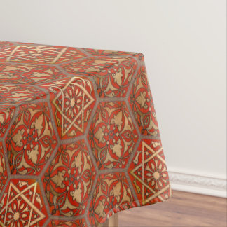 Star of David Golden Red Tablecloth