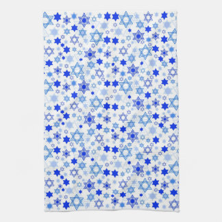 Star of David Hanukkah Tea Towel