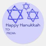 STAR OF DAVID HAPPY HANUKKAH STICKERS