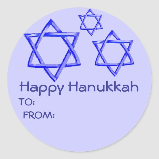 STAR OF DAVID HAPPY HANUKKAH STICKERS
