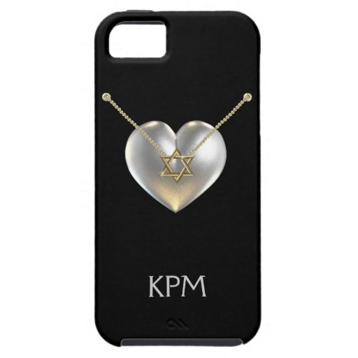 Star of David Heart iPhone5 Case - SRF iPhone 5 Cover