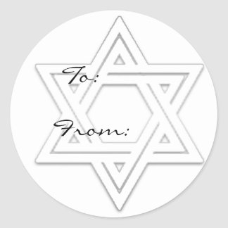 Star of David Holiday Gift Tag Stickers