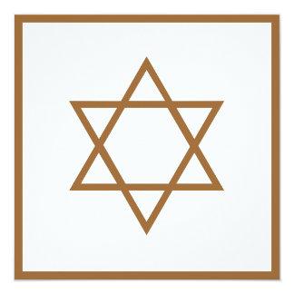"Star of David 5.25"" Square Invitation Card"