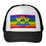 Star of David - Jewish - Gay Pride Mesh Hat
