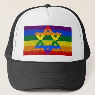 Star of David - Jewish - Gay Pride Trucker Hat