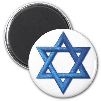 Star of David Jewish Israeli 6 Cm Round Magnet