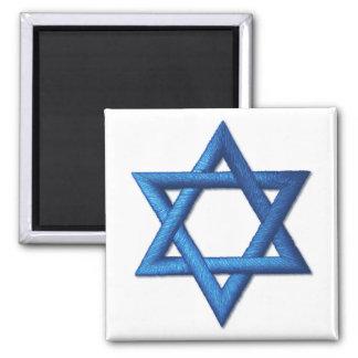 Star of David Jewish Israeli Symbol Square Magnet