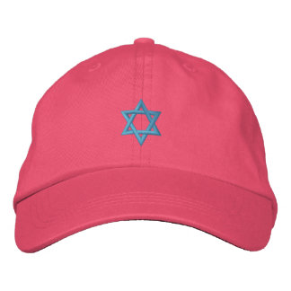 Star of David Jewish Symbol Embroidered Hat