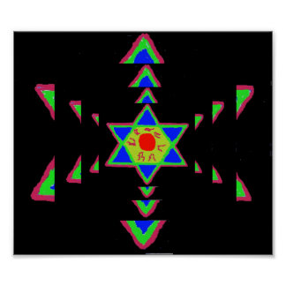 Star of David Paint Poster