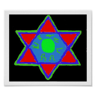 Star of David Paint Posters