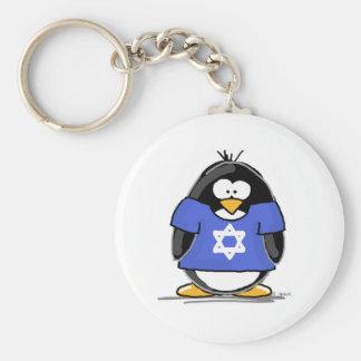Star of David Penguin Key Ring
