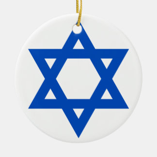 """STAR OF DAVID"" ROUND CERAMIC DECORATION"