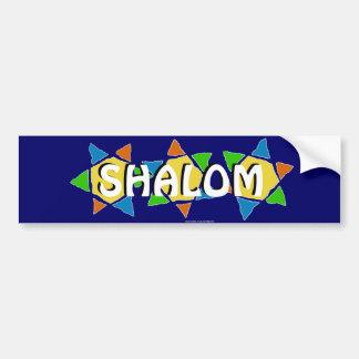 Star of David Shalom Bumper Sticker