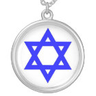 STAR OF DAVID SILVER PLATED NECKLACE