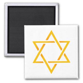 Star of David Square Magnet