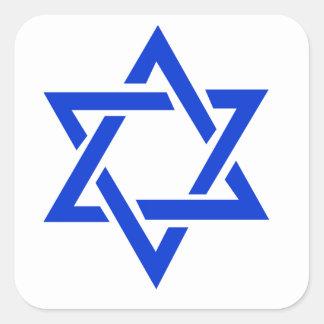 Star of David Square Sticker
