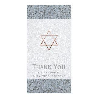 Star of David Stone Sympathy Thank You Photo Cards