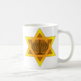 Star of David with Menorah Coffee Mugs
