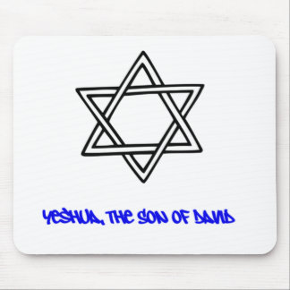 Star of David - Yeshua, The Son of David Mouse Pad