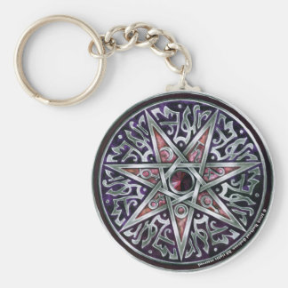 Star of Fey Round Keychain