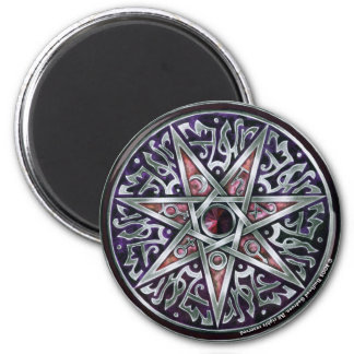Star of Fey Round Magnet