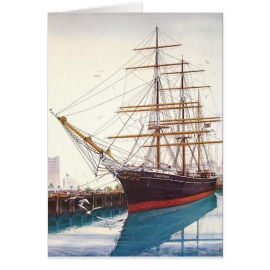 STAR OF INDIA, SAN DIEGO, CALIFORNIA CARD