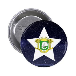 Star of Ivory Coast Flag 6 Cm Round Badge