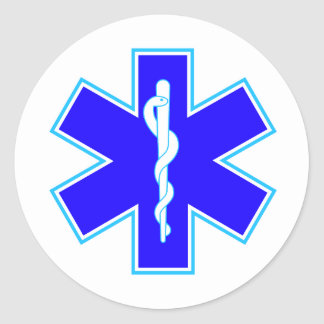 Star of Life (ambulance) Classic Round Sticker