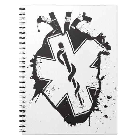 star of life anatomical heart spiral notebook