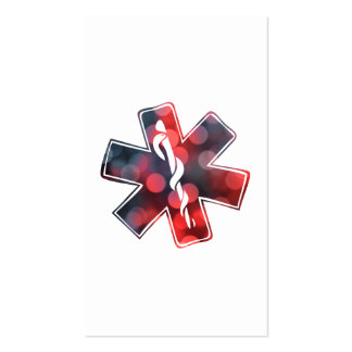 star of life bokeh pack of standard business cards