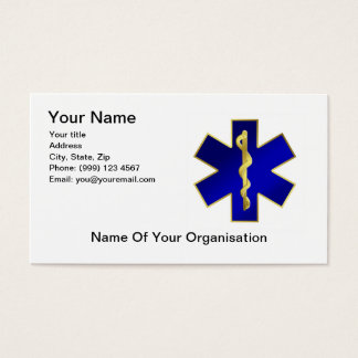 Star of Life Business Card, double sided. Business Card