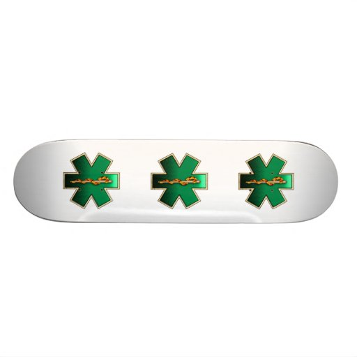 Star Of Life(Emerald) Skate Boards