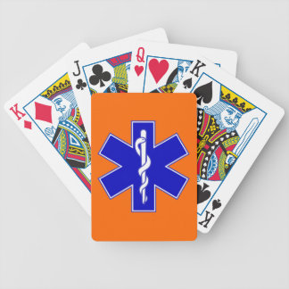 Star of Life EMS Bicycle Playing Cards