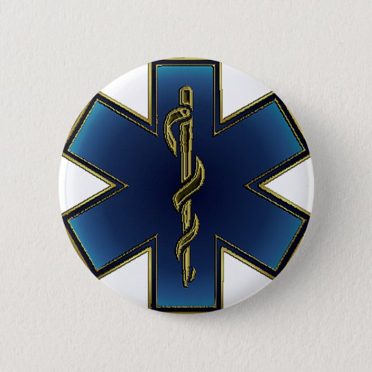 Star of Life EMS Button