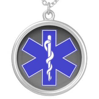 Star of Life / EMT / Gradient Silver Plated Necklace