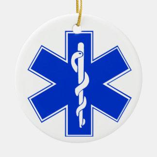 Star of Life / EMT Symbol Christmas Ornament
