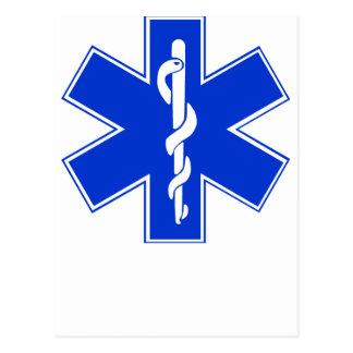 Star of Life / EMT Symbol Postcard