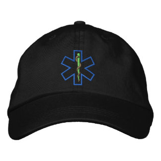 Star Of Life Outline Embroidered Hat