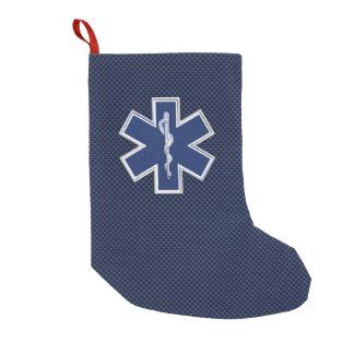Star of Life Paramedic Emergency Medical S Decor Small Christmas Stocking