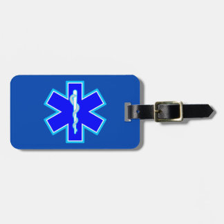 Star of Life Paramedic Emergency Medical Services Luggage Tag